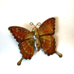 Vintage monarch Butterfly Lapel pin Button/ charm